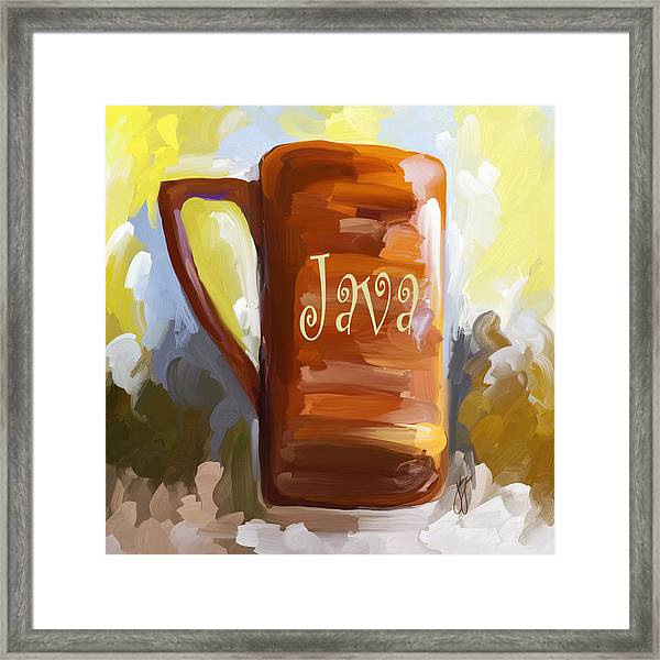 Java Coffee Cup Framed Print