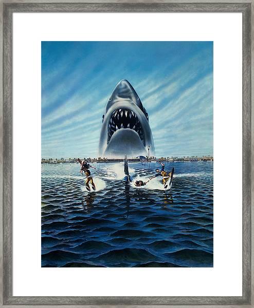 Jaws 3 1983 Framed Print