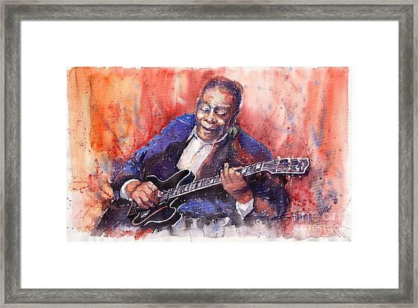 Jazz B B King 06 A Framed Print