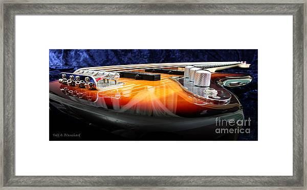 Jazz Bass Beauty Framed Print