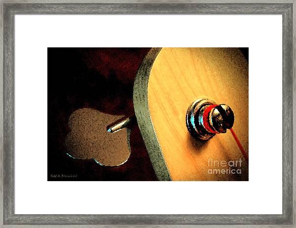 Jazz Bass Tuner Framed Print