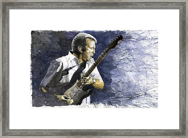 Jazz Eric Clapton 1 Framed Print