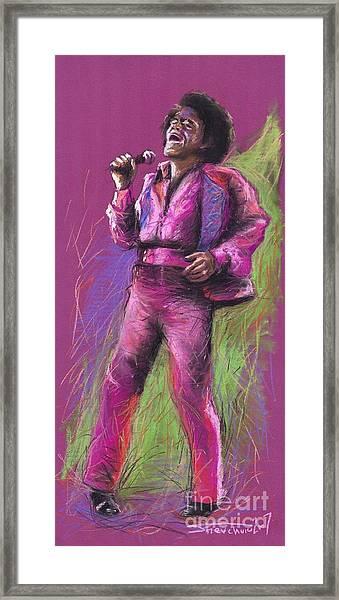 Jazz James Brown Framed Print