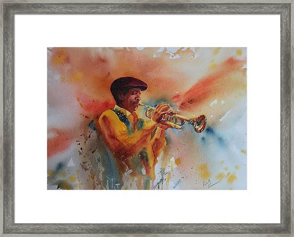 Jazz Man Framed Print