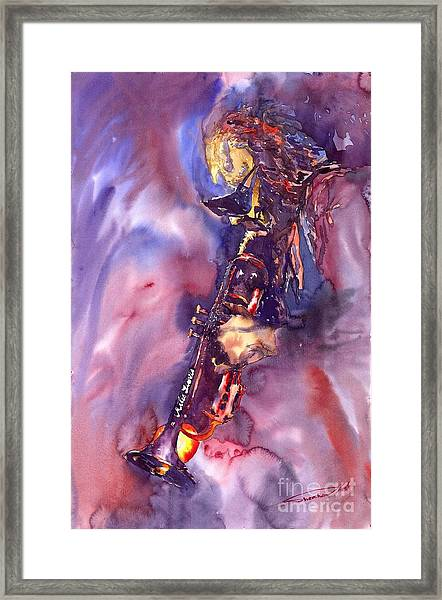 Jazz Miles Davis Electric 3 Framed Print