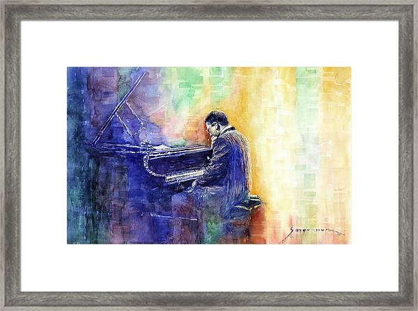 Jazz Pianist Herbie Hancock  Framed Print