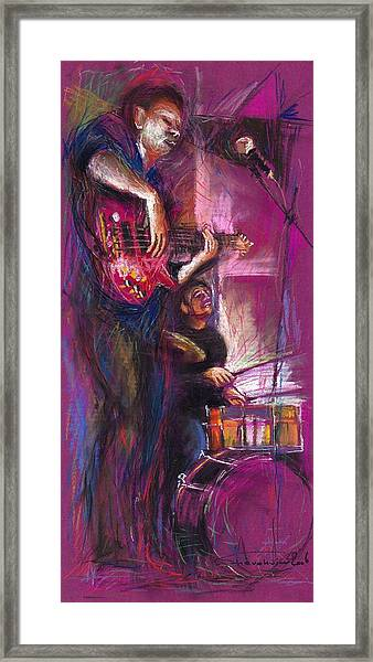 Jazz Purple Duet Framed Print