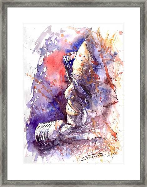 Jazz Ray Charles Framed Print