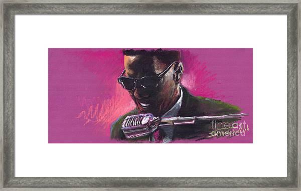 Jazz. Ray Charles.1. Framed Print