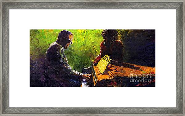 Jazz Ray Duet Framed Print