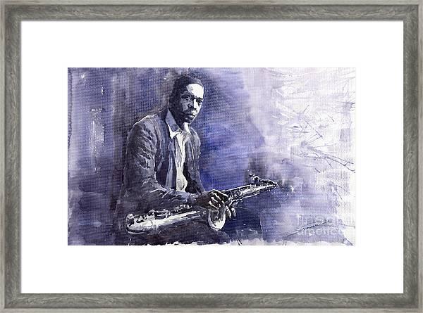 Jazz Saxophonist John Coltrane 03 Framed Print