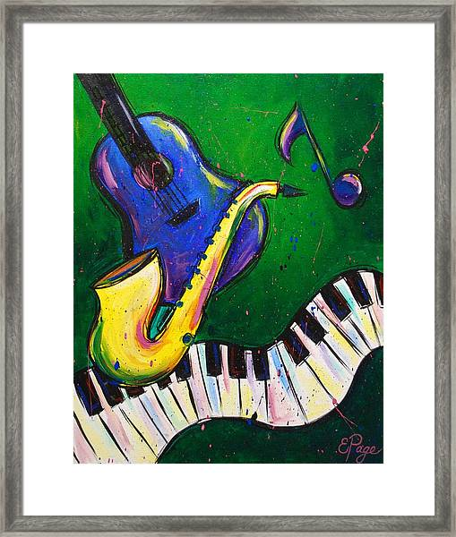 Jazz Time Framed Print