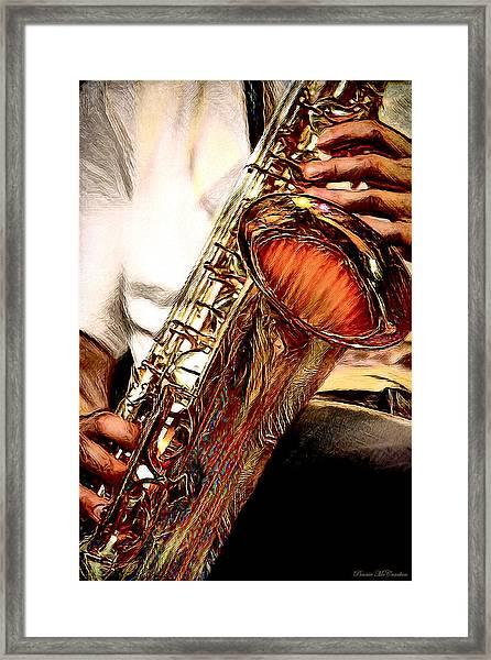 Jazzy Sax Framed Print