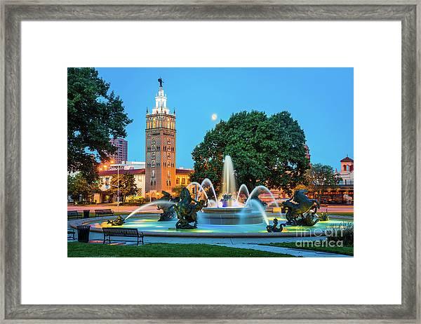 J.c. Nichols Memorial Fountain Framed Print