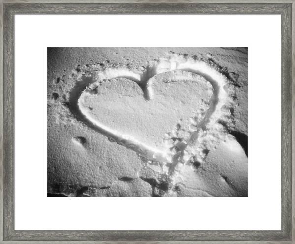 Winter Heart Framed Print