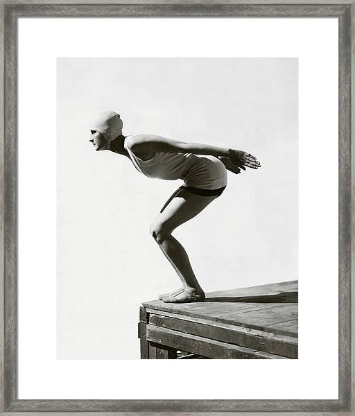 Jean Patou Swimwear Framed Print