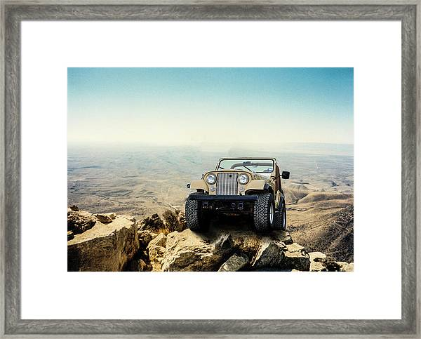 Jeep On A Mountain Framed Print