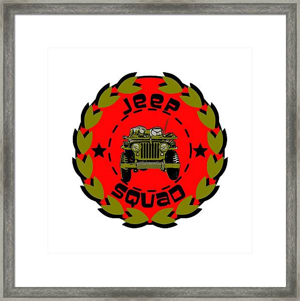 Jeep Squad Framed Print