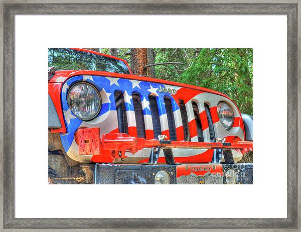 Jeep Usa Framed Print