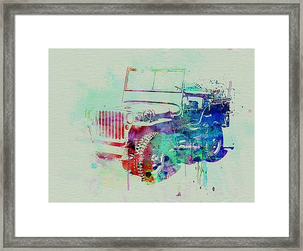 Jeep Willis Framed Print