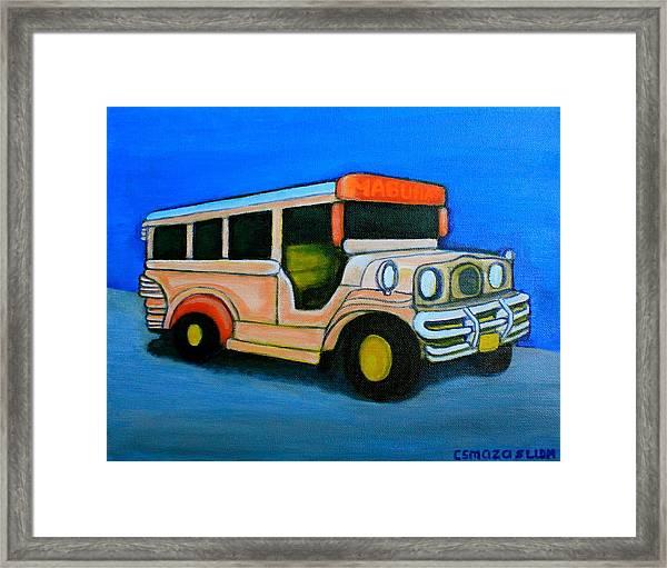 Jeepney Framed Print