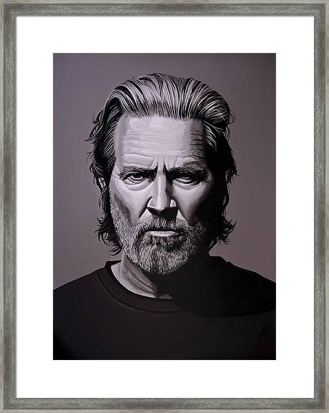 Jeff Bridges Painting Framed Print