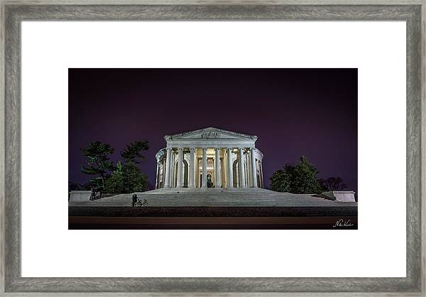 Jefferson At Night Framed Print