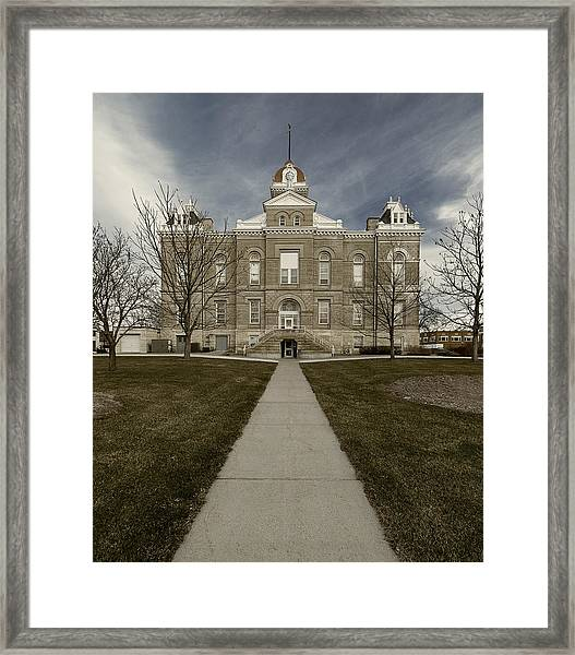 Jefferson County Courthouse In Fairbury Nebraska Rural Framed Print