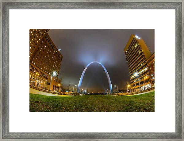 Jefferson Expansion Memorial Gateway Arch Framed Print