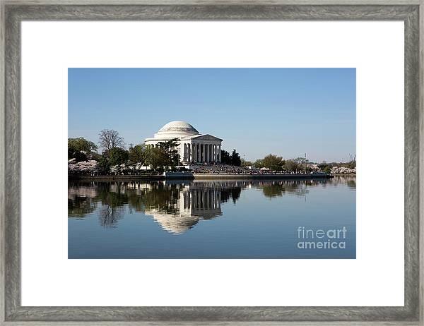 Jefferson Memorial Cherry Blossom Festival Framed Print