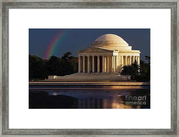 Jefferson Memorial Framed Print