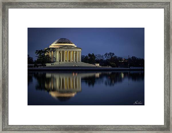 Jefferson Reflecting Framed Print