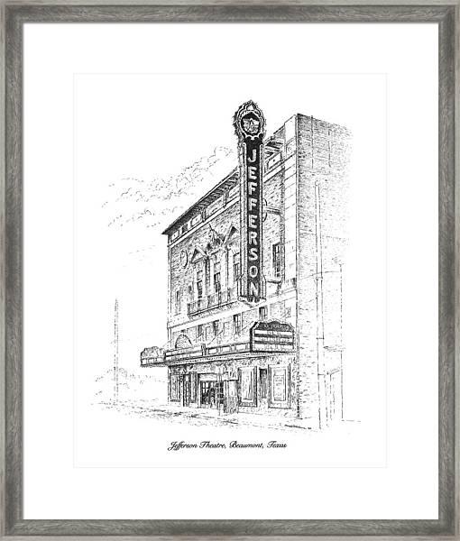 Jefferson Theatre Framed Print
