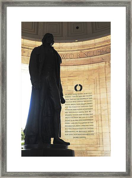 Jefferson's Words Framed Print