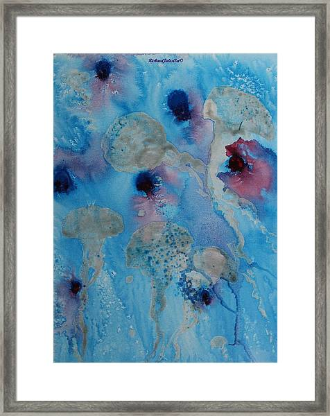 Jelly Fish Abstract Framed Print