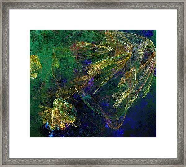 Jelly Fish  Diving The Reef Series 1 Framed Print