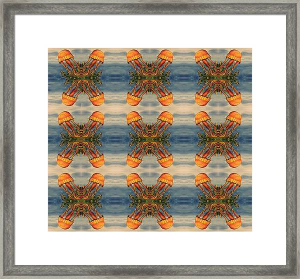 Jellyfish Pattern Framed Print