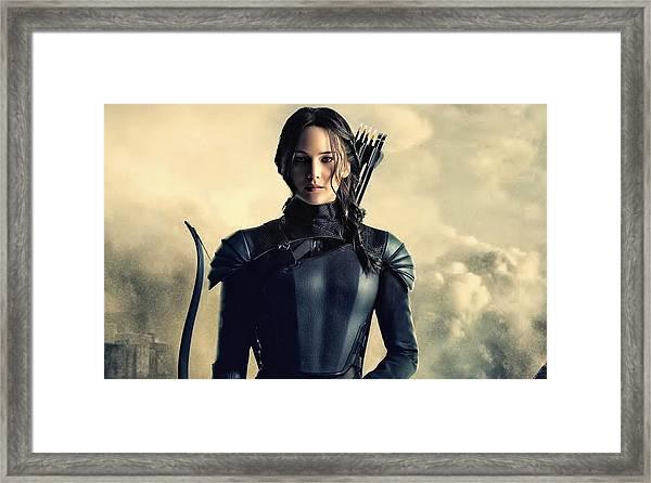 Jennifer Lawrence The Hunger Games  2012 Publicity Photo Framed Print