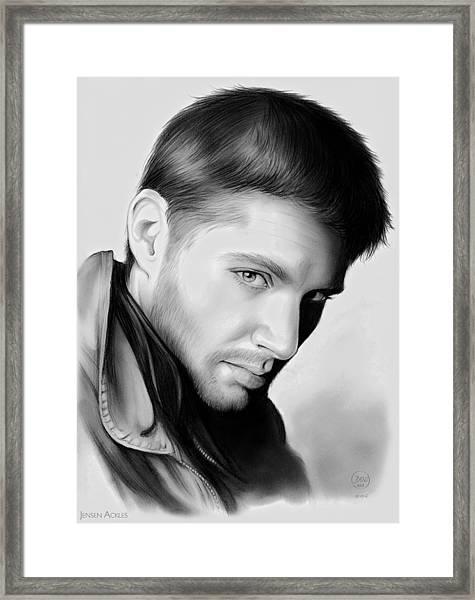 Jensen Ackles Framed Print