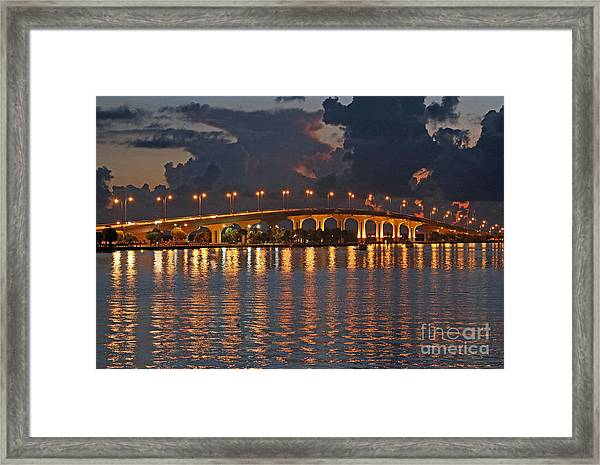Framed Print featuring the photograph Jensen Beach Causeway by Tom Claud