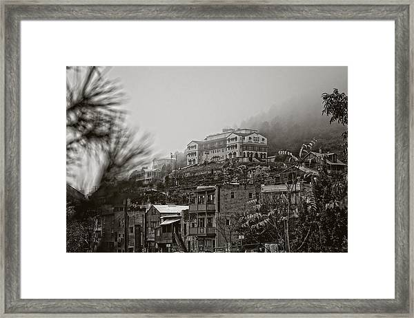 Jerome Az On A Foggy Morning Framed Print