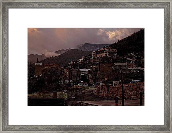 Jerome On The Edge Of Sunrise Framed Print