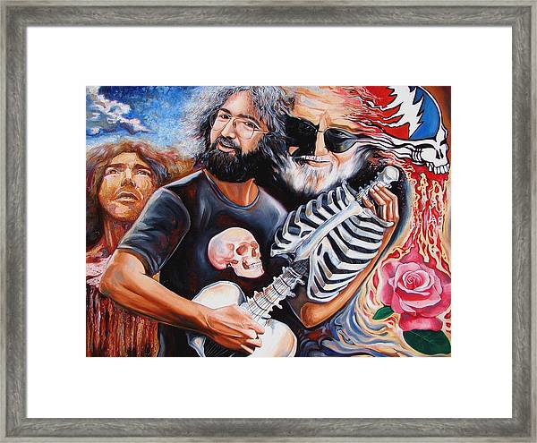 Jerry Garcia And The Grateful Dead Framed Print