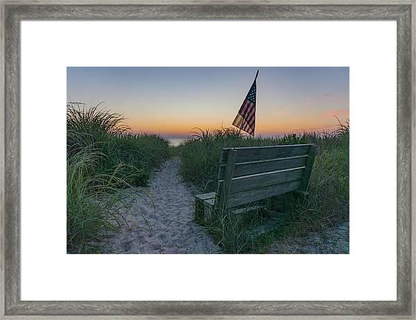 Jerry's Bench Framed Print