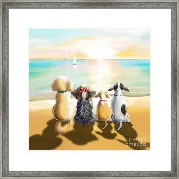 Jersey Shore Sunrise  Framed Print