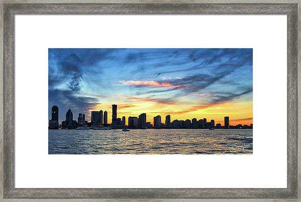 Framed Print featuring the photograph Jersey Skyline by David A Lane