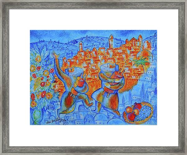 Jerusalem Of Gold Framed Print
