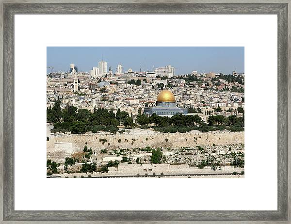 Jerusalem Skyline Framed Print
