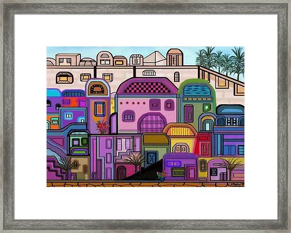 Jerusalem Tapestry Framed Print by Sher Magins