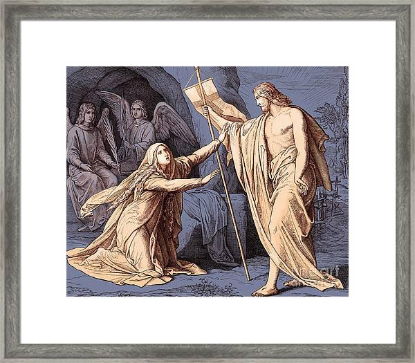 Jesus Appears To Mary Magdalene, Gospel Of John Framed Print